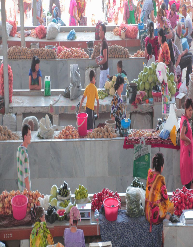 Comida y mercados en Uzbekistán