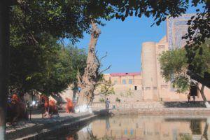 Parque en el centro de la ciudad. Bukhara